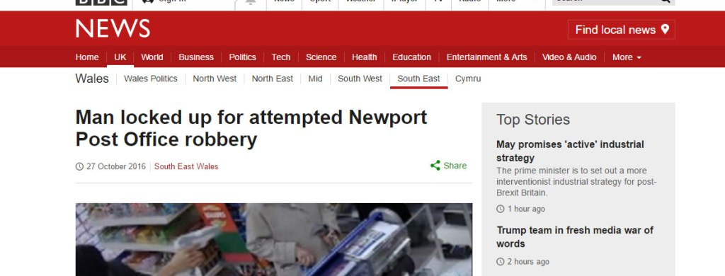 BBC News Robbery